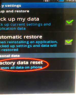 Reset  factory